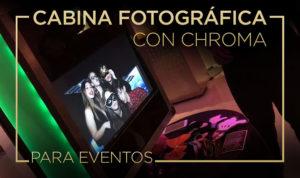 cabina fotografica con chroma
